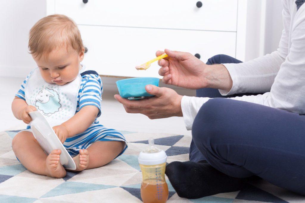 Baby during feeding