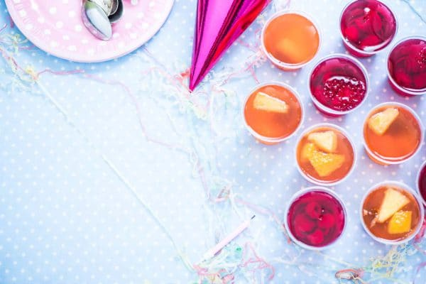 colorful healthy fruit jelly
