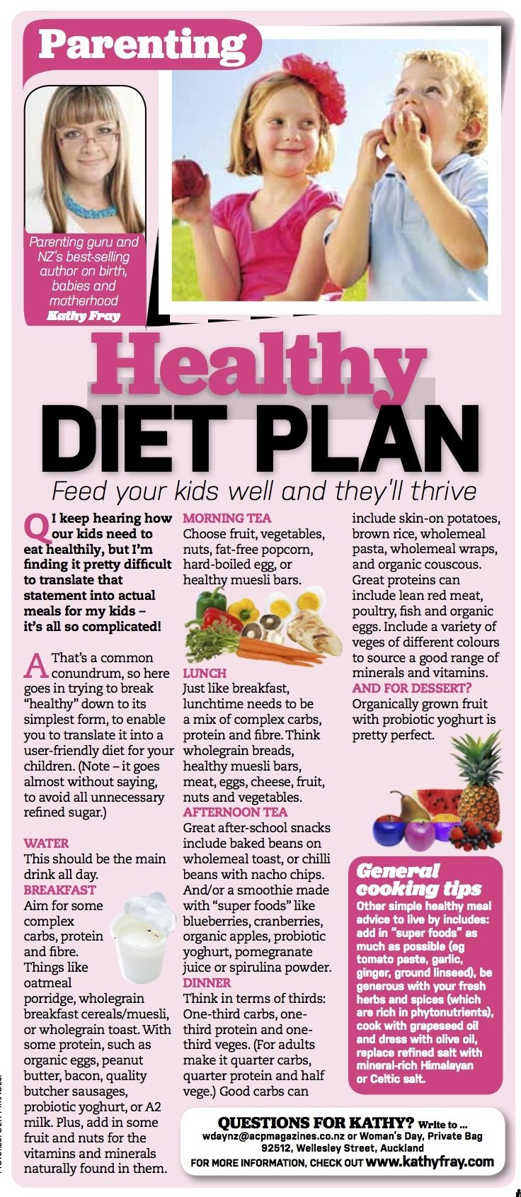 Healthy diet plan