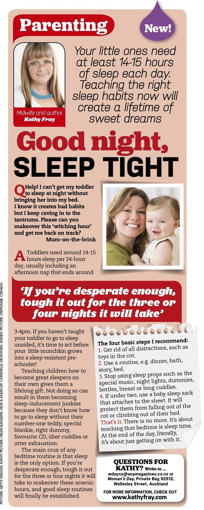 Helping toddlers sleep